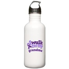 Alzheimers Walk For Grandma Water Bottle