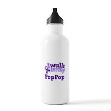 Alzheimers Walk For PopPop Water Bottle