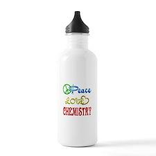 Peace Love Chemistry Water Bottle