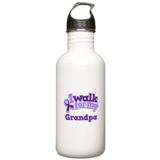 Alzheimers Walk For Grandpa Water Bottle