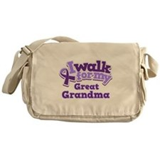 Alzheimers Walk For Great Grandma Messenger Bag