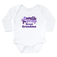 Alzheimers Walk For Great Grandma Long Sleeve Infa
