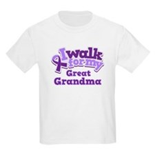 Alzheimers Walk For Great Grandma T-Shirt
