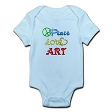 Peace Love Art Infant Bodysuit