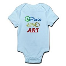 Peace Love Art Onesie
