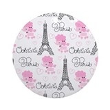 Paris Poodles Ornament (Round)