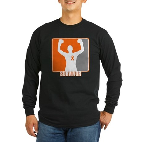 COPD Survivor Long Sleeve Dark T-Shirt
