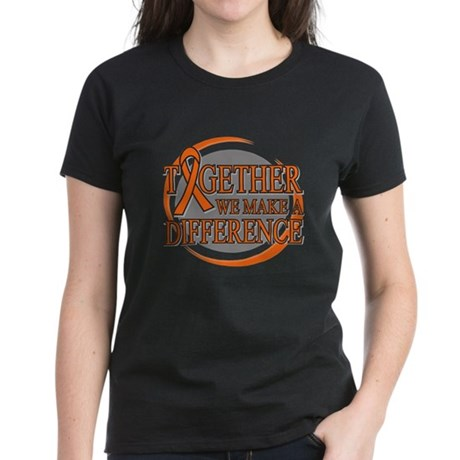Make a Difference COPD Women's Dark T-Shirt
