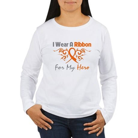 Hero Ribbon COPD Women's Long Sleeve T-Shirt