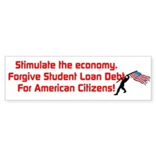 Unique Student loans Bumper Sticker