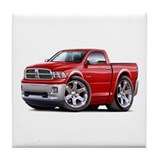 Ram Red Truck Tile Coaster