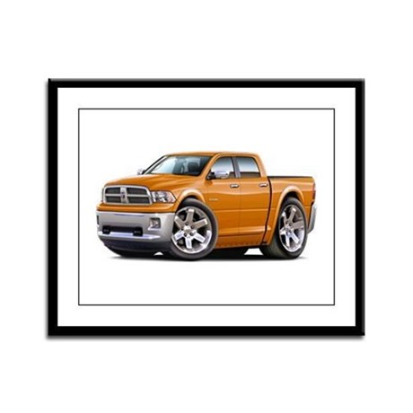 Ram Orange Dual Cab Framed Panel Print