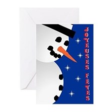 Snowman Holiday french Greeting Cards (Pk of 20)