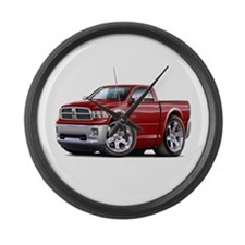 Ram Maroon Truck Large Wall Clock