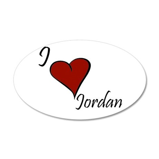 Jordan 38.5 x 24.5 Oval Wall Peel