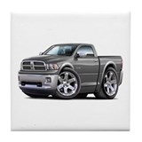 Ram Grey Truck Tile Coaster