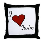 Justin Throw Pillow