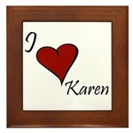 Karen Framed Tile