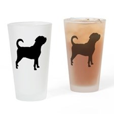 Puggle Dog Drinking Glass