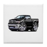 Ram Black Truck Tile Coaster