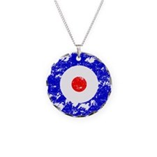 'Vintage Target' Necklace Circle Charm