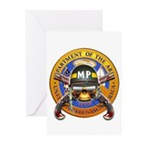 US Army Military Police Skull Greeting Cards (Pk o