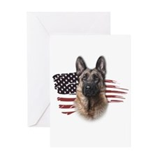 Patriotic German Shepherd Greeting Card