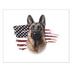 Patriotic German Shepherd Small Poster