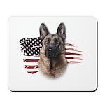 Patriotic German Shepherd Mousepad