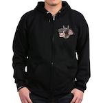 Patriotic German Shepherd Zip Hoodie (dark)