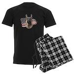 Patriotic German Shepherd Men's Dark Pajamas