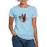 Patriotic German Shepherd Women's Light T-Shirt