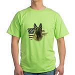 Patriotic German Shepherd Green T-Shirt