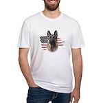 Patriotic German Shepherd Fitted T-Shirt