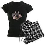 Patriotic German Shepherd Women's Dark Pajamas