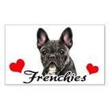 Love Frenchies - Brindle Decal