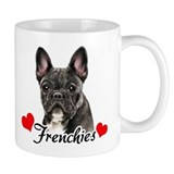 Love Frenchies - Brindle Small Mugs