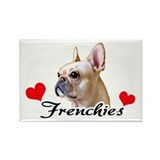 Love Frenchies - Creme Rectangle Magnet