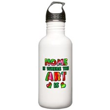 'Home Is Where The Art Is' Water Bottle