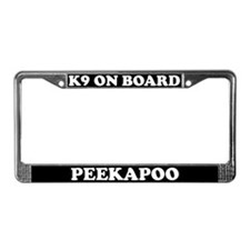 K9 On Board Peekapoo License Plate Frame