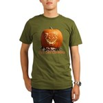 FatCat Pumpkin Organic Men's T-Shirt (dark)