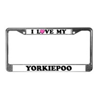 Yorkipoo License Plate Frames