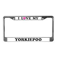Yorkipoo License Plate Frames