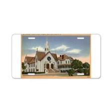 Cute Chapel Aluminum License Plate