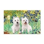 CUSTOM-Irises - 2 Westies Mini Poster Print