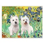 CUSTOM-Irises - 2 Westies Small Poster