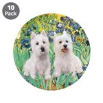 "CUSTOM-Irises - 2 Westies 3.5"" Button (10 pac"