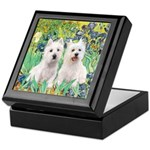 CUSTOM-Irises - 2 Westies Keepsake Box