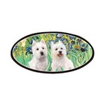 CUSTOM-Irises - 2 Westies Patches
