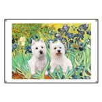 CUSTOM-Irises - 2 Westies Banner